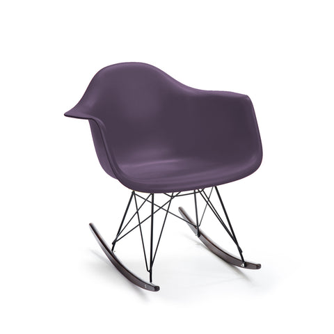 Sliver Armchair Rocker-Walnut Base