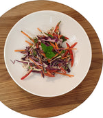 Asian Style Slaw with Hemp Seed, Sesame & Ginger Dressing