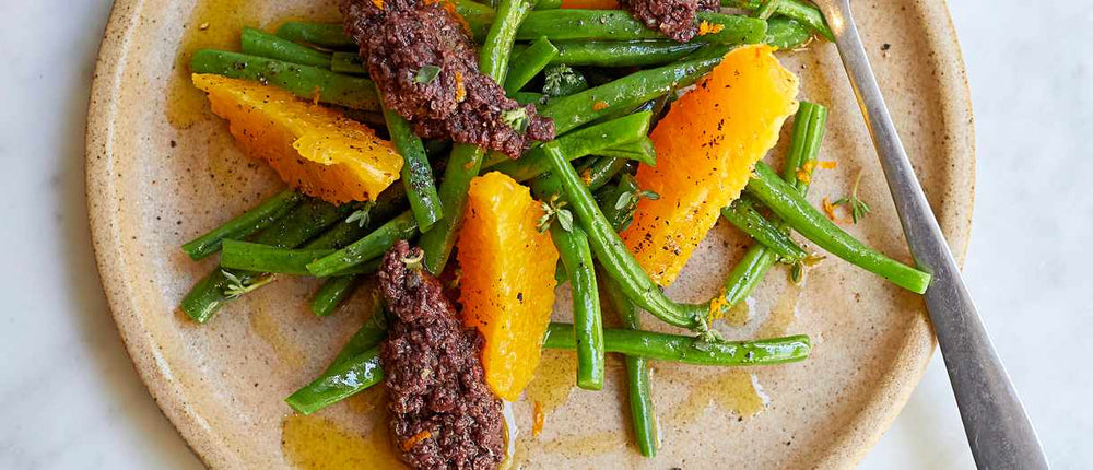 Green Bean, Orange and Tapenade salad
