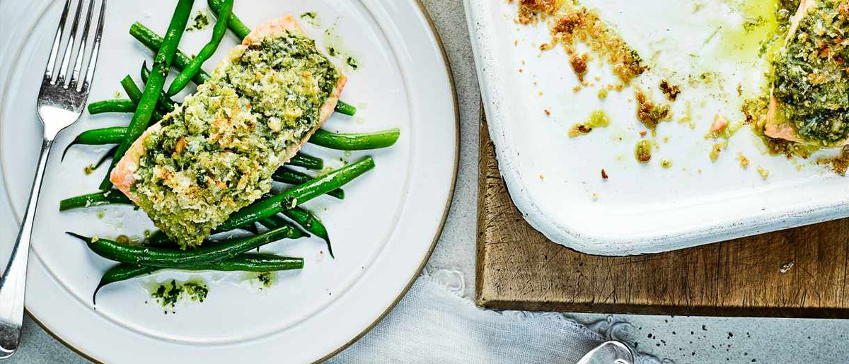 Salmon with Pesto Crust