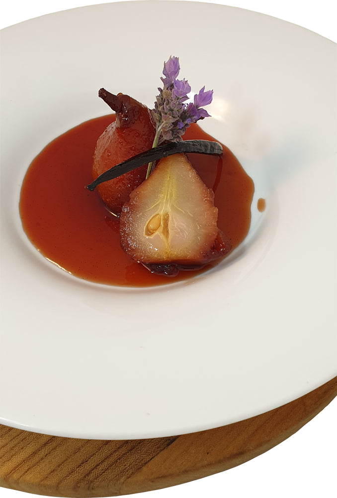 Cabernet Poached Pears