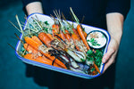 Roasted Carrots with Dukkah, Quinoa & Feta Yogurt Cream