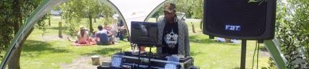 DJ Floyd setting the atmosphere at Telegraph Hill