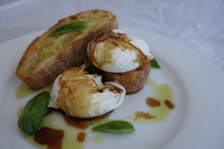 Poached Eggs with Balsamic Drizzle Telegraph Hill