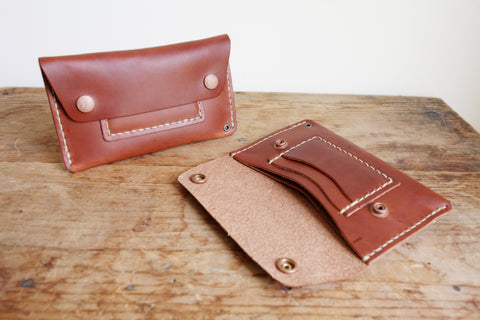 Mechanic's Wallet (Hand Waxed Red Lantern)