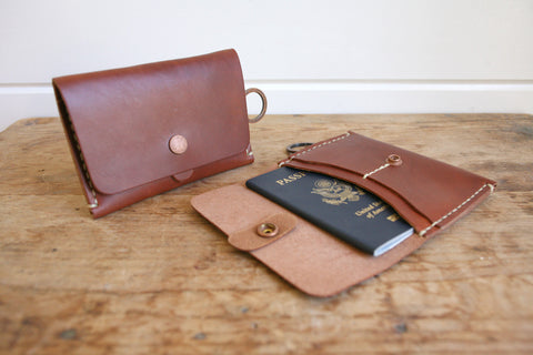 Travel Wallet (Hand Waxed Red Lantern)