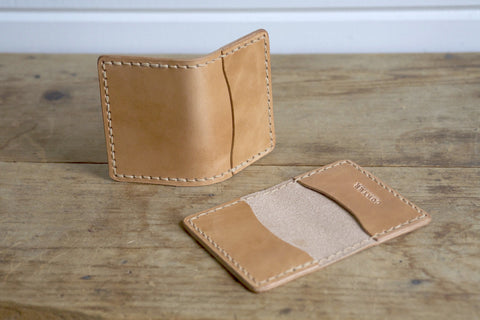 Standard Folded Card Wallet (Saddle Tan)