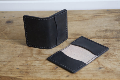 Standard Folded Card Wallet (Black)