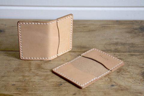 Standard Folded Card Wallet (Natural)