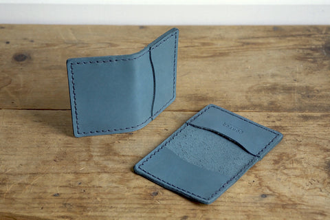 Standard Folded Card Wallet (Signature Indigo Latigo)