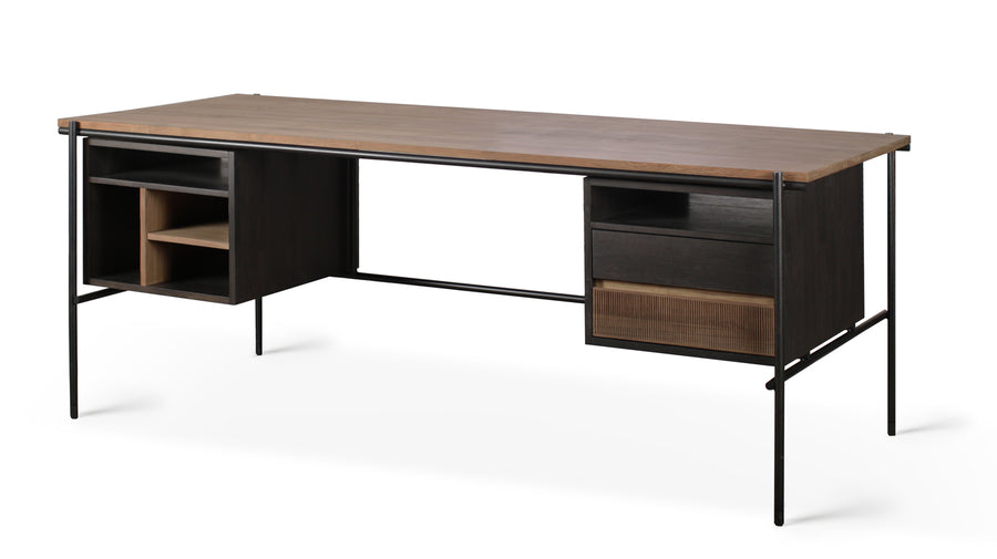 Oscar Desk - Teak with 2 Drawers