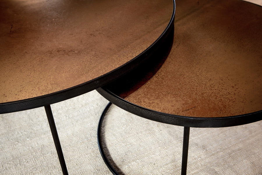 Nesting Coffee Table Bronze Copper - Set of 2