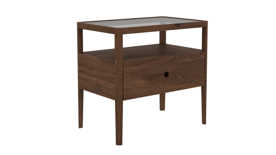 Spindle Nightstand - Walnut