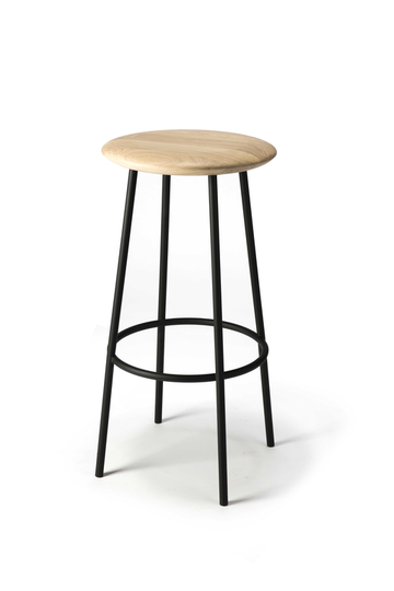 Baretto Barstool - Varnished Oak