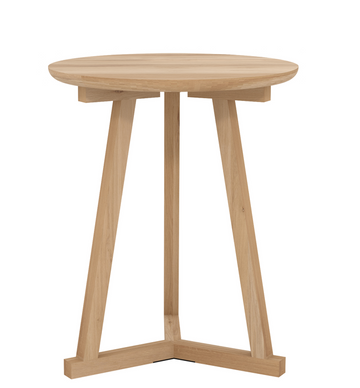 Tripod Side Table - Oak