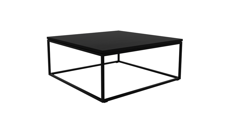 Thin Coffee Table - Black Oak