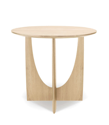 Geometric Side Table - Oak