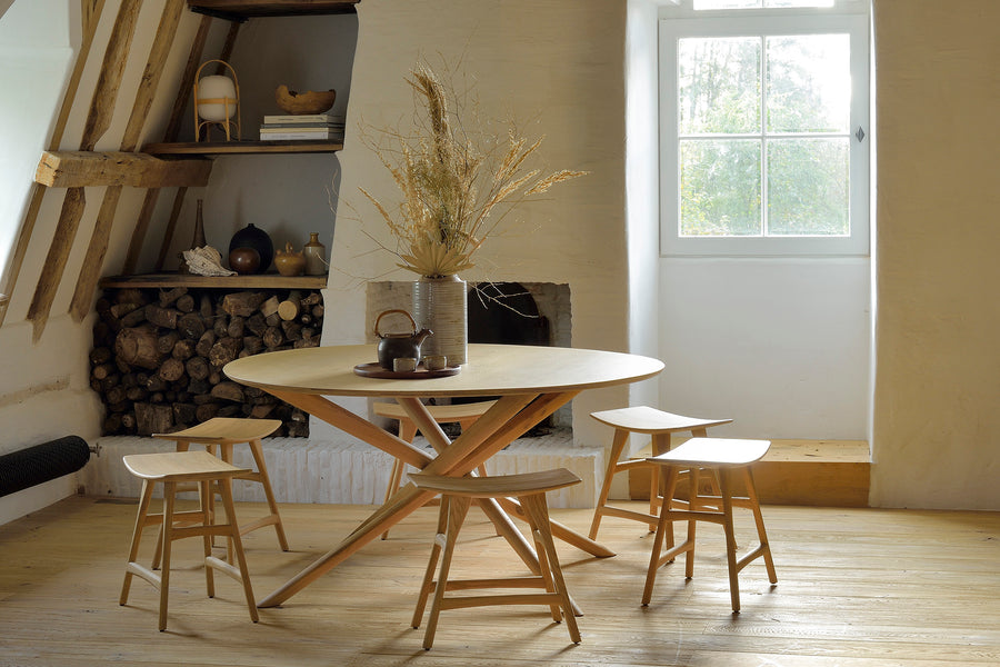 Mikado Dining Table Round - Oak