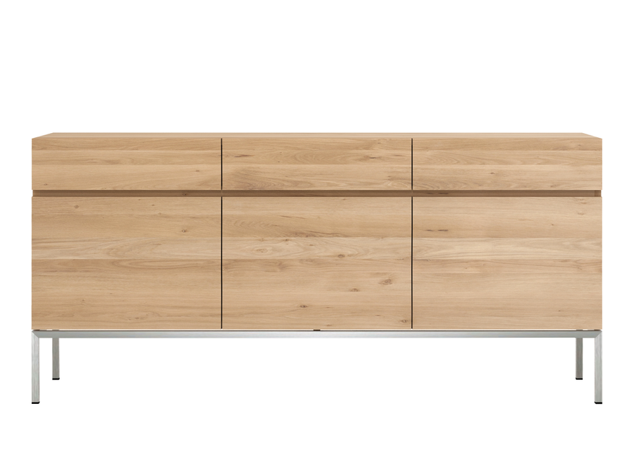 Ligna Sideboard - Oak with Stainless Steel Base