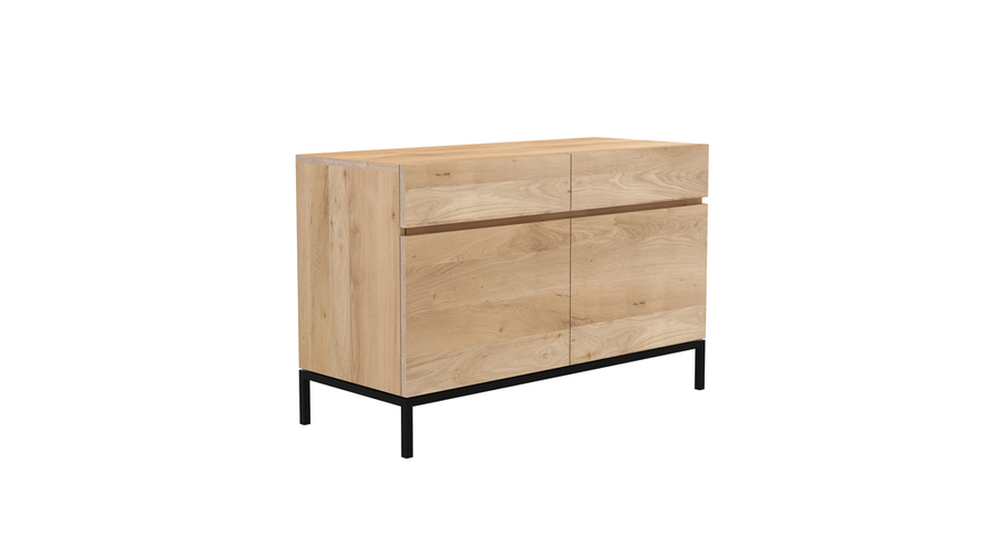 Ligna Sideboard - Oak with Black Steel Base