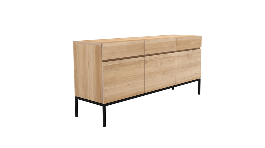 Ligna Sideboard - Oak with Black Base