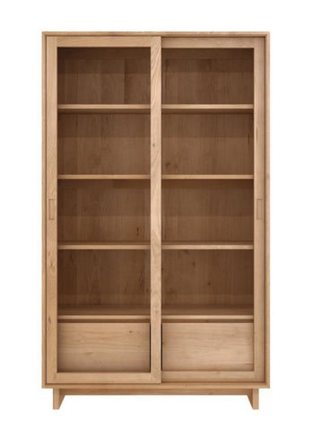 Wave Storage Cupboard - Oak