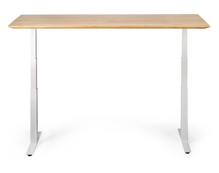 Bok Adjustable Desk - White Frame