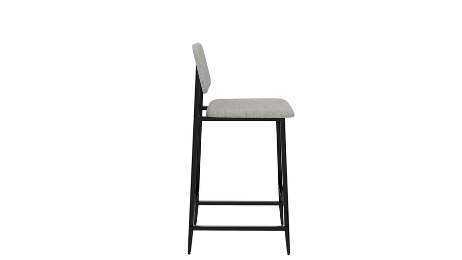 DC Counter Stool with Backrest - Grey