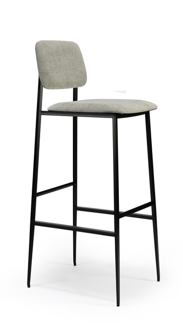 DC Barstool with Backrest - Grey