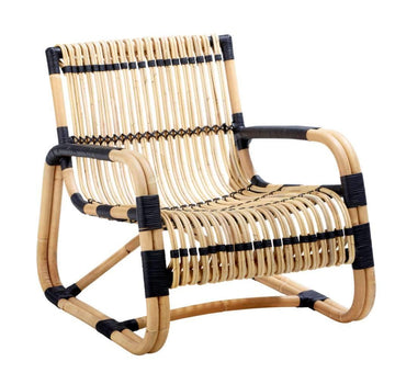 Curve Lounge Chair - Black Bindings / Indoor