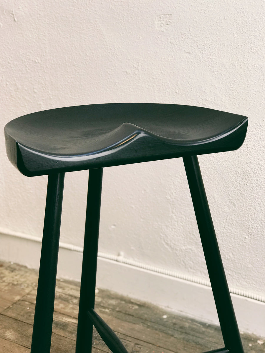 Pomerania Counter Stool - Black Ash