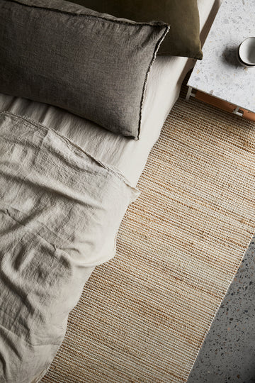 Drift Weave Rug - Natural & White