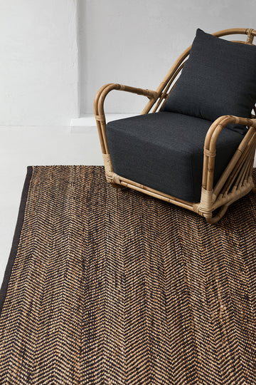 Serengeti Weave Rug - Charcoal & Natural