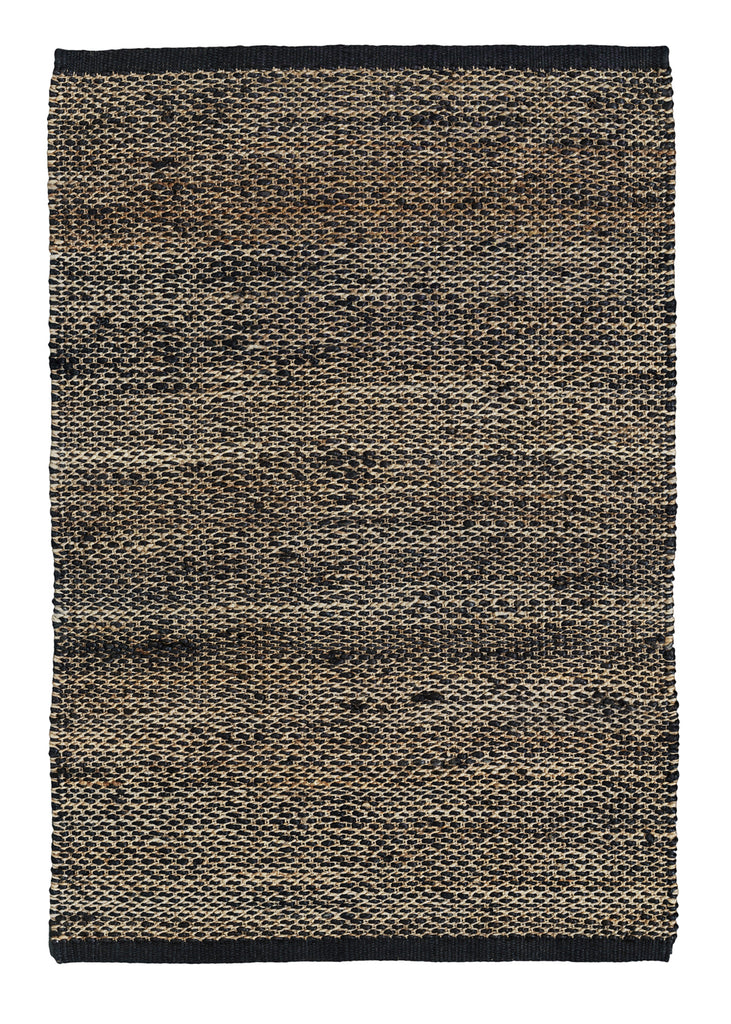 KITCHEN MAT RIDGE WEAVE - Charcoal & Natural