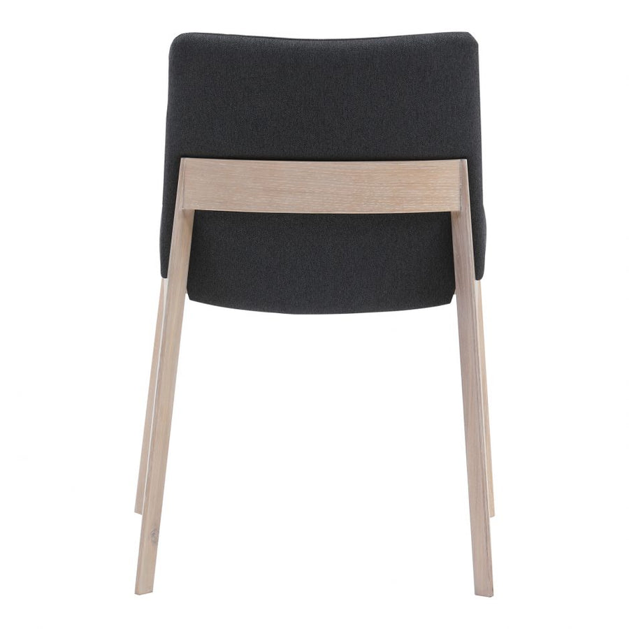 Deco Oak Dining Chair - Dark Grey