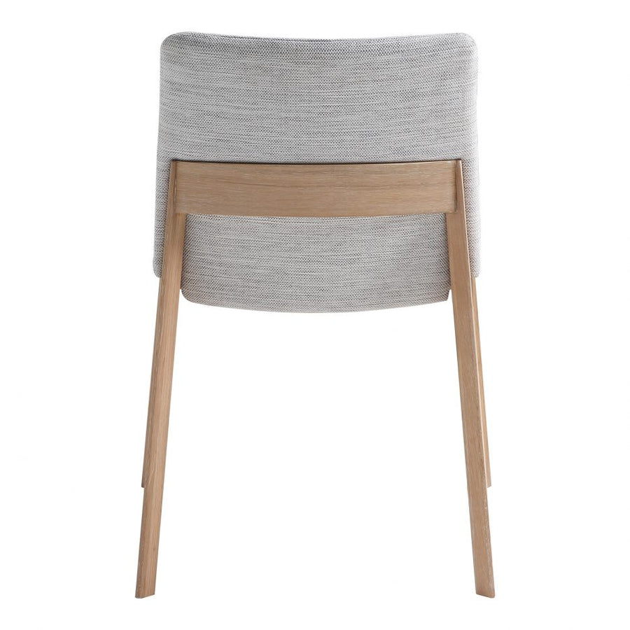 Deco Oak Dining Chair - Light Grey