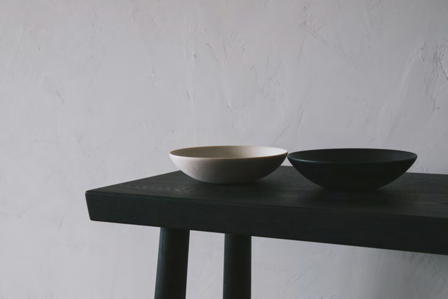 Shallow Bowl Blackline LG by Blackcreek Mercantile & Trading Co.