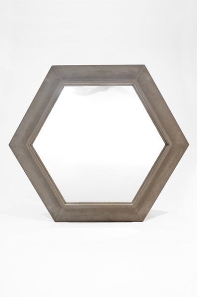 Concrete Hex Mirror
