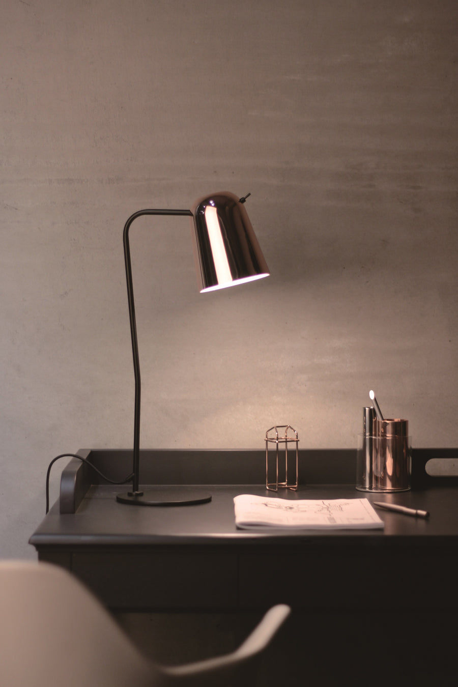Dobi Table Lamp - Copper & Black