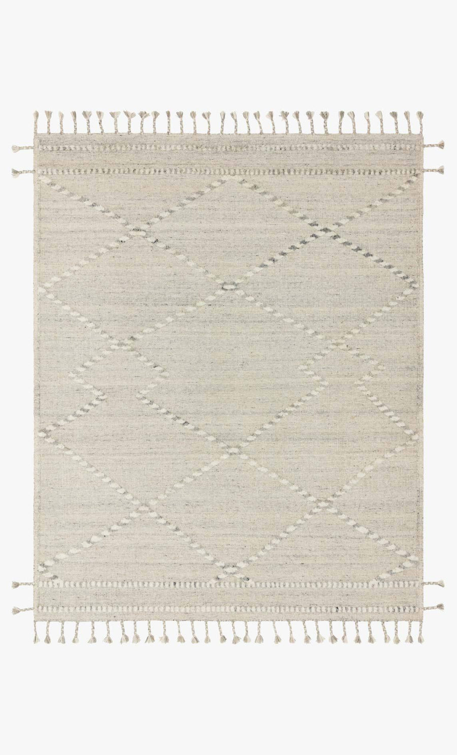 Iman Rug - Ivory / Light Grey
