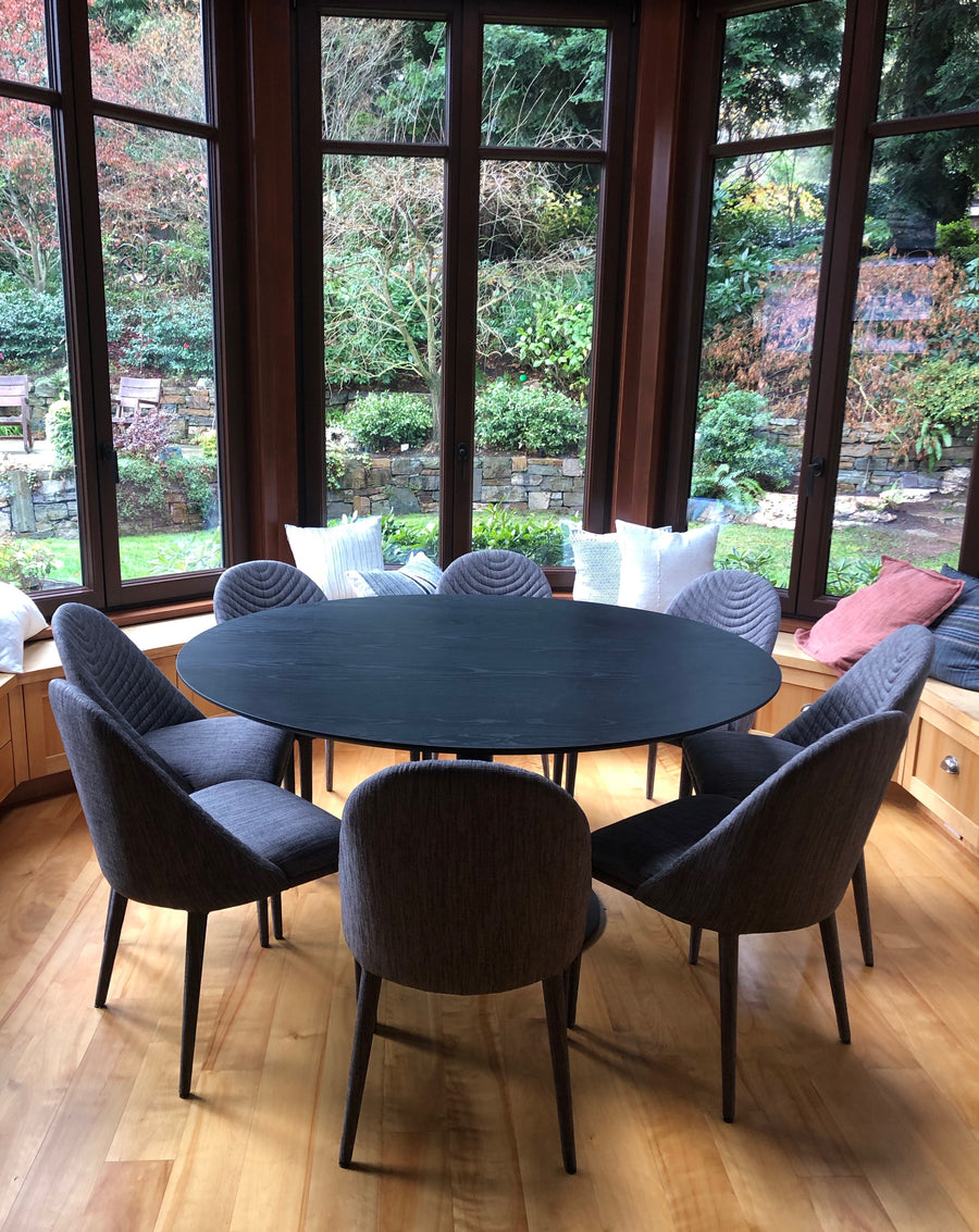 Disco Round Dining Table - Black Ash