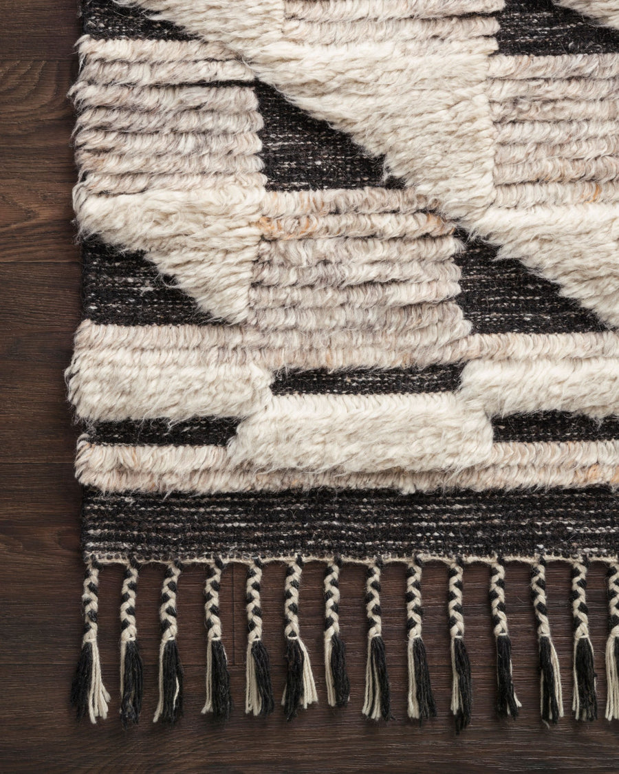 Khalid Rug - Natural / Black