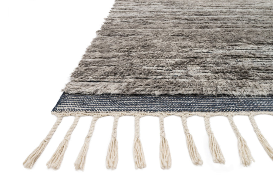 Khalid Rug - Pewter / Ink