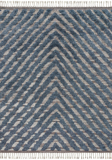 Khalid Rug - Blue / Pewter