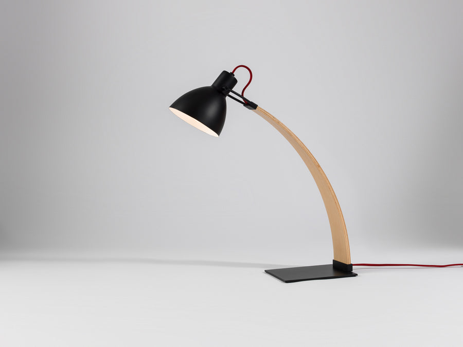 Laito Wood Table Lamp - Black