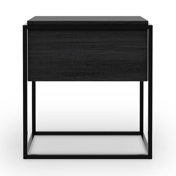 Monolit Nightstand - Black Oak with Black