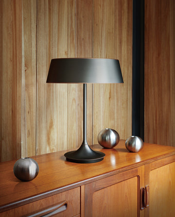 DJ Table Lamp - Black with Bronze