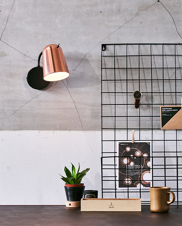 Dobi Wall Lamp - Black / Copper