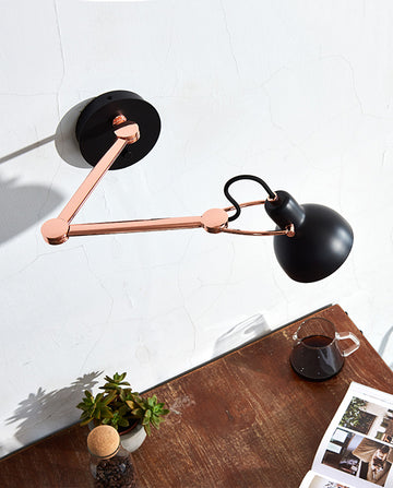 Laito Mini Wall Arm Lamp - Black / Copper