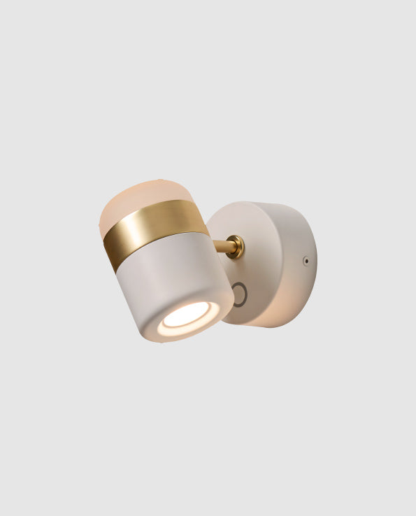 Ling Wall Sconce White/Brass